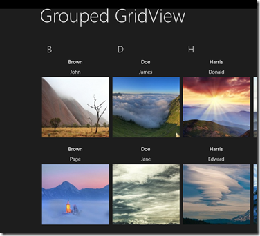 Working with GridView Control in WinRT C#/XAML Metro Style App