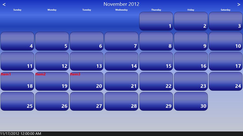xaml control template - building a calendar control for winrt in xaml sergey